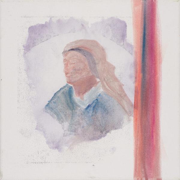 Malerei, Öl auf Leinwand, 30cm x 30cm, Frauenkopf mit geschlossenen Augen, artist: Franziska King