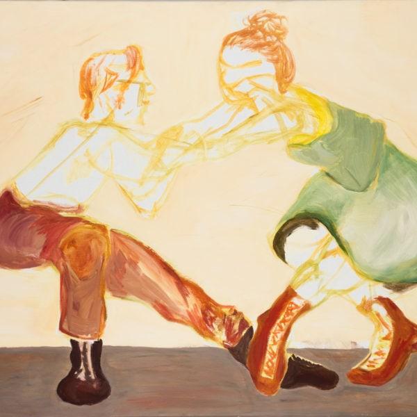 Malerei, Eitempera auf Leinwand, 80cm x 60cm, Frau und Mann in Tanzpose, artist: Franziska King