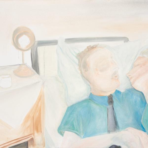 Malerei, Öl auf Leinwand,100 cm x80 cm, der Suizid Stefan Zweigs, artist: Franziska King