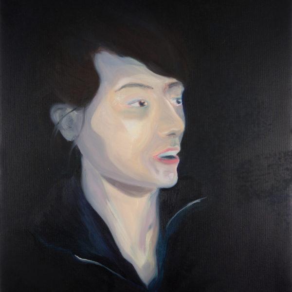 Malerei, Öl auf Leinwand, 50cm x 60cm, Portrait von Ania, artist: Franziska King