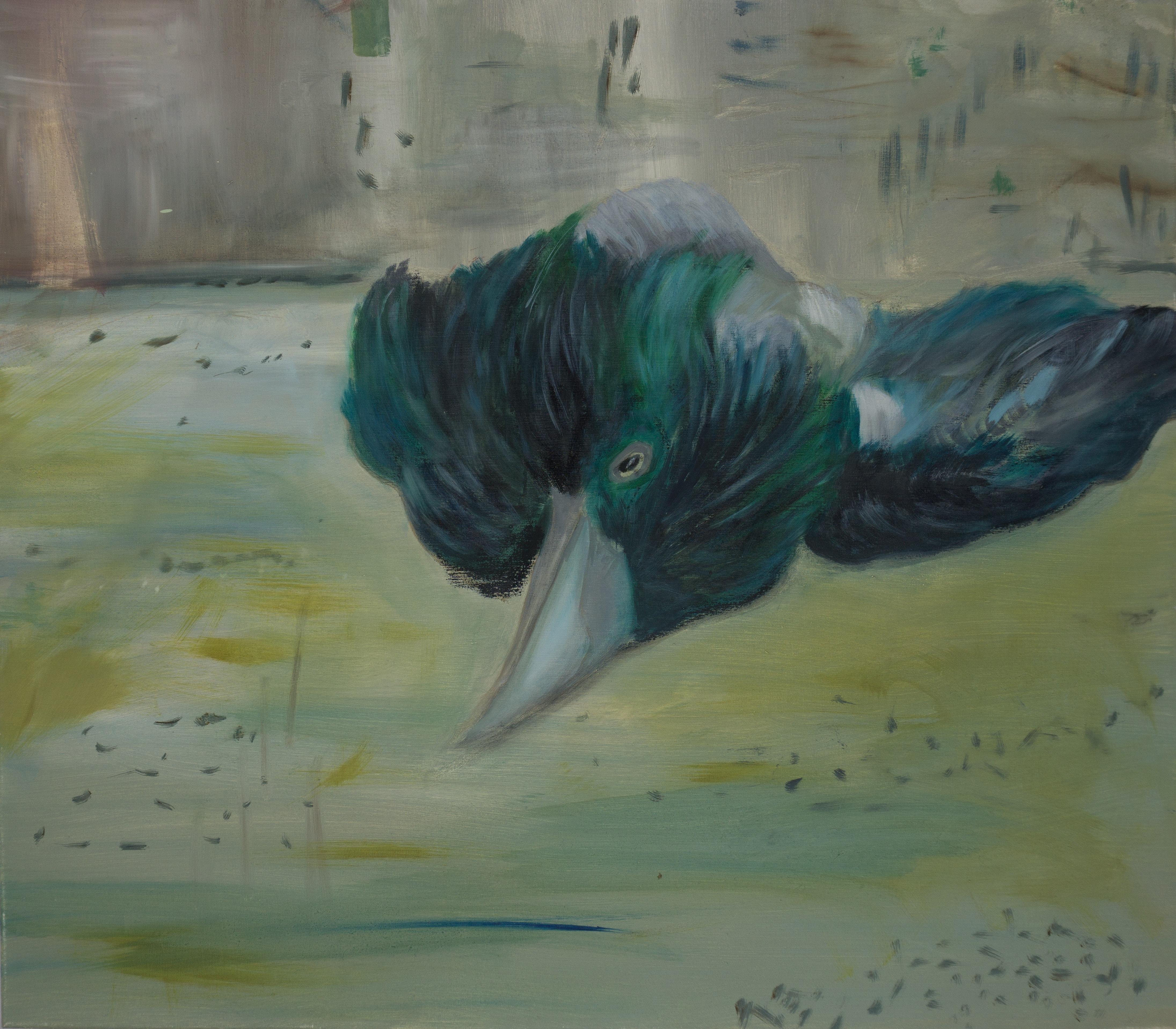 Malerei, Öl auf Leinwand, 80cm x 70cm, Toter Vogel, artist: Franziska King