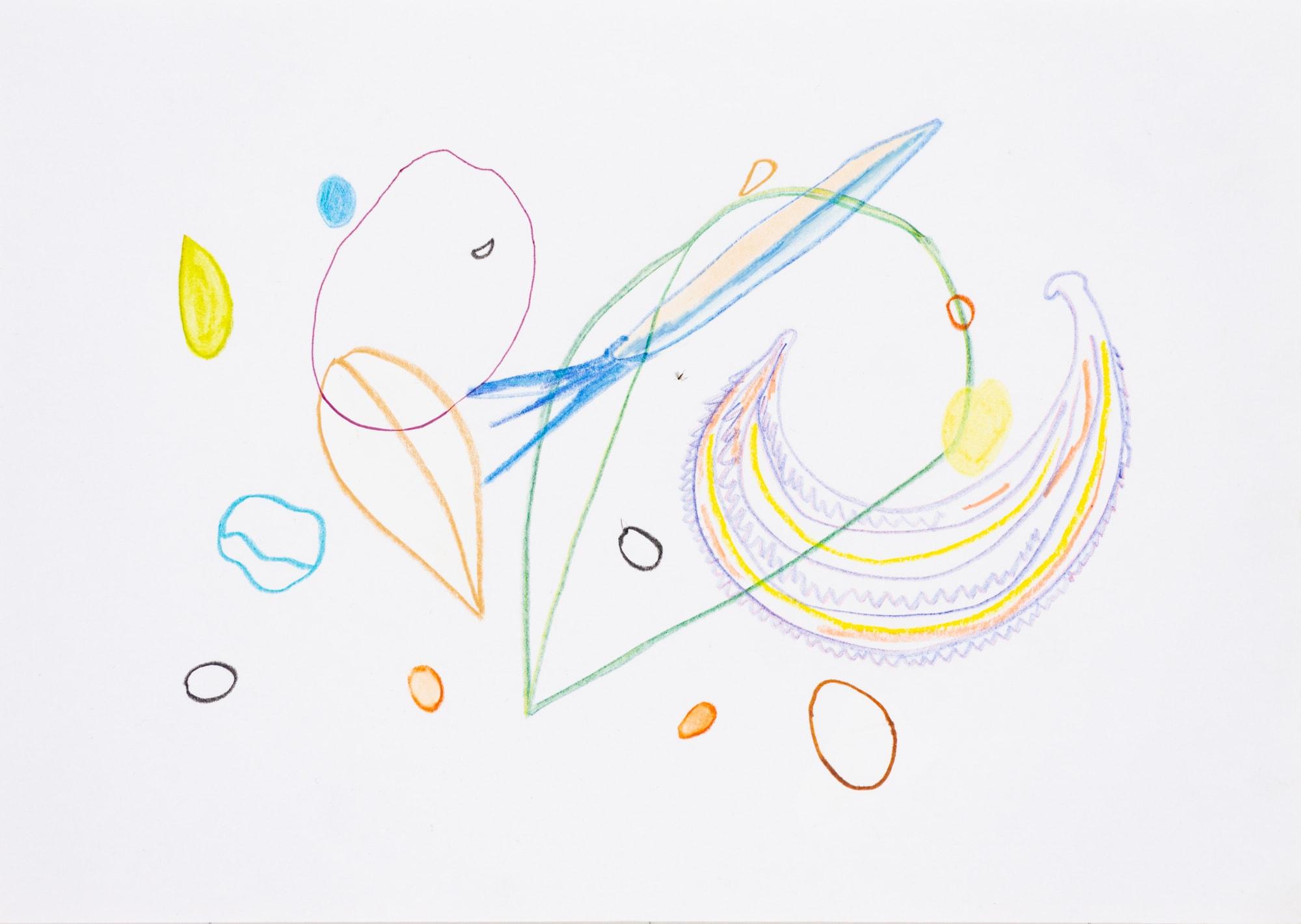 Zeichnung, Mischtechnik auf Papier, 29,7cm x 21cm, Samenmischung natürlicher Schutz gegen Schnecken, artist: Franziska King
