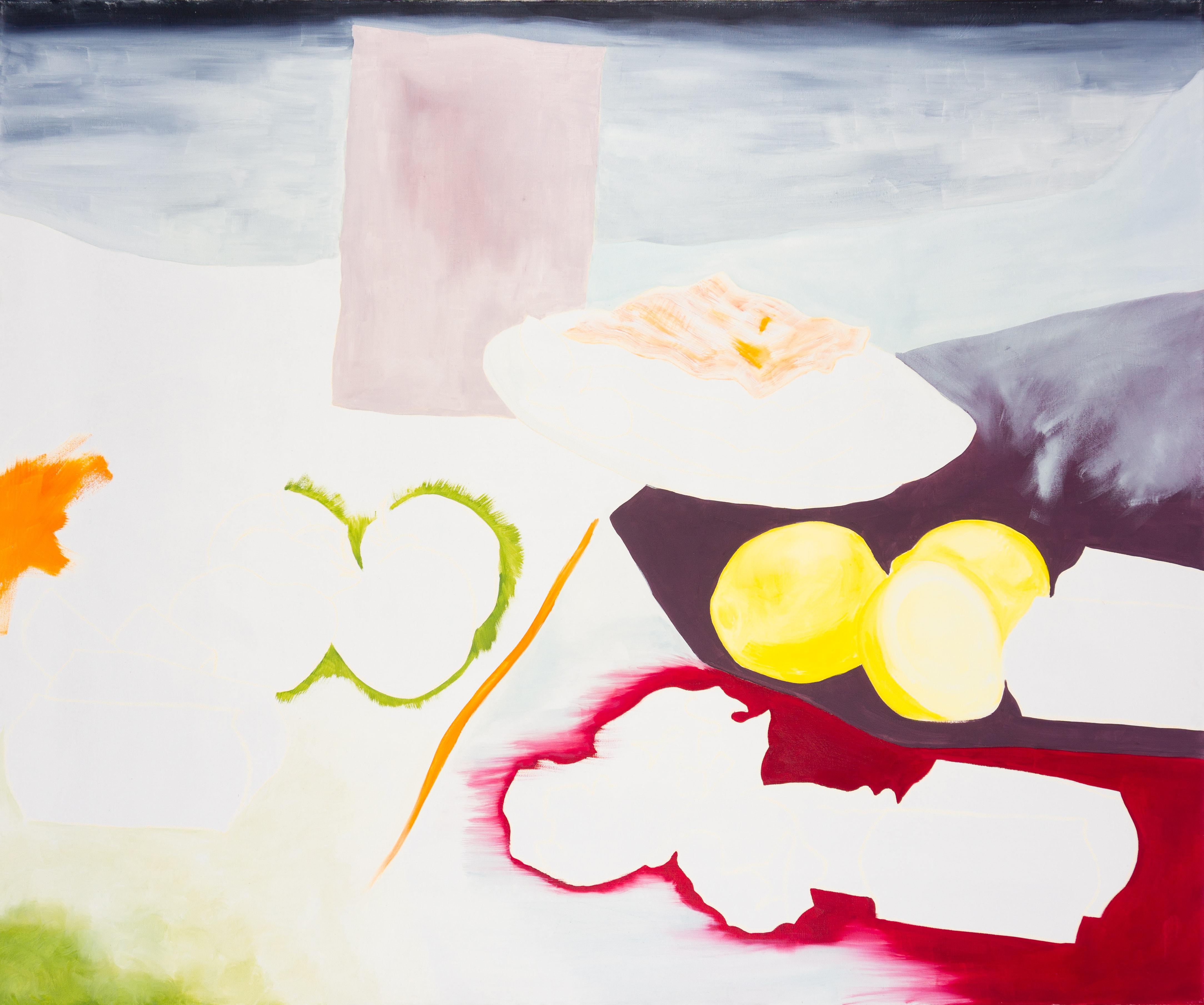 Malerei, Öl auf Leinwand, 120cm x 100cm, stilisierte Werbung für Lasagne, artist: Franziska King
