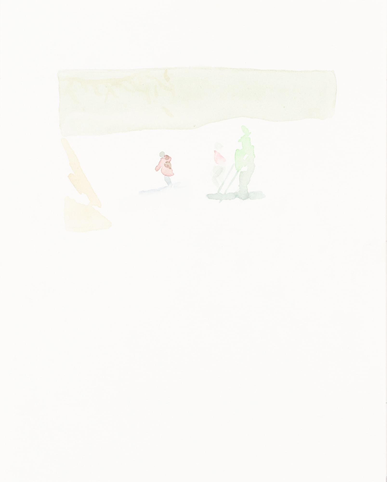 Zeichnung, Aquarell auf Papier, 24x30cm, abstrakt, Künstlerin: Franziska King