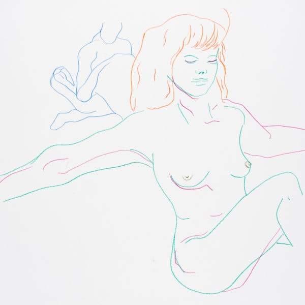 Zeichnung, Farbstift auf Papier, 59,4cm x 42cm, Akt, artist: Franziska King