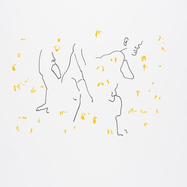 Zeichnung, Tusche auf Papier, 59,4cm x 42cm, Akt, artist: Franziska King