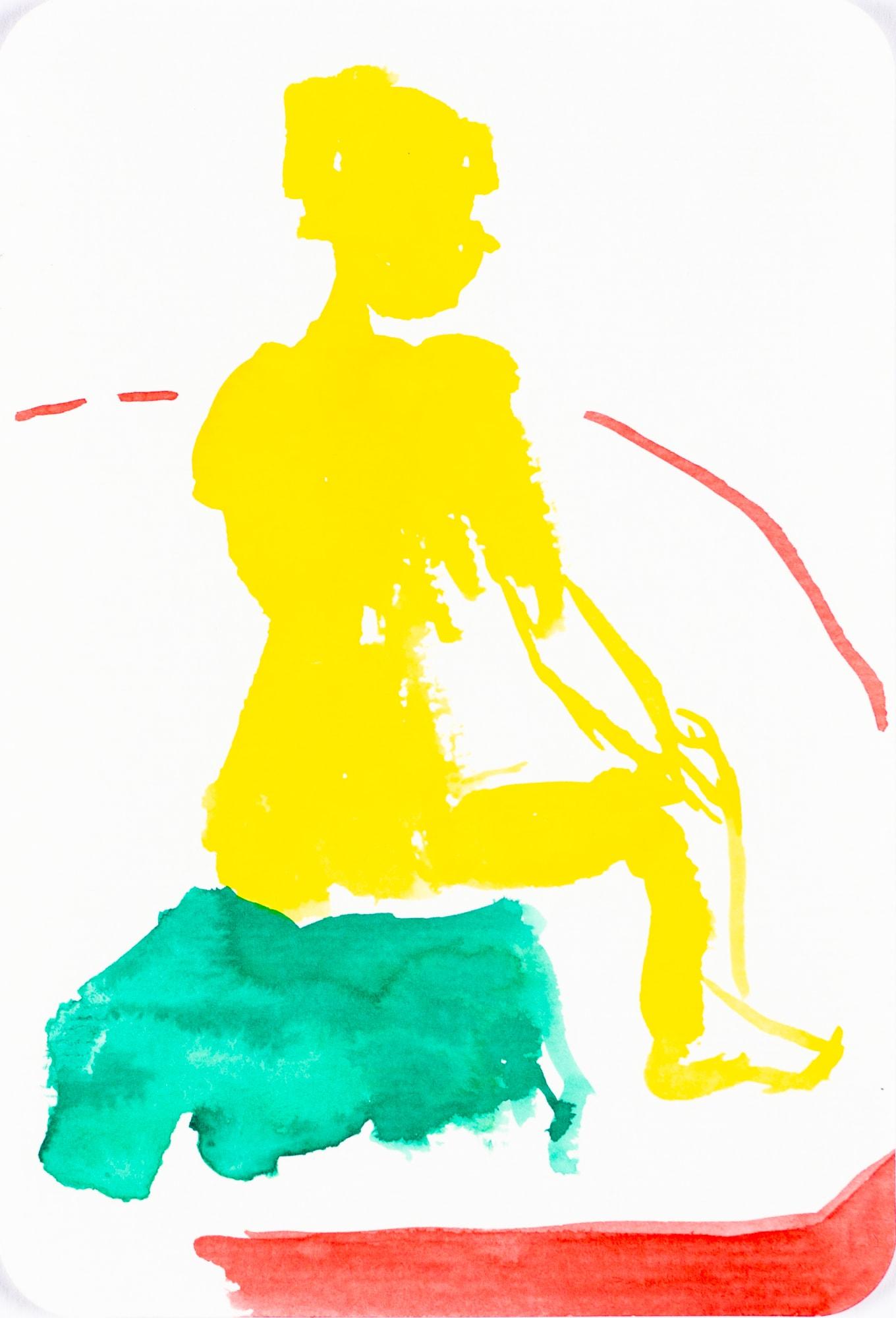 Zeichnung, Tusche auf Papier, 10,4x15,3cm, Akt, Künstlerin: Franziska King