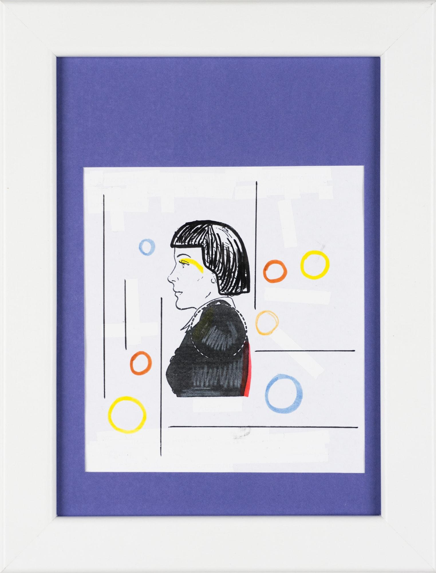 Übermalung und Mischtechnik auf Papier, 10,4x11,4cm, Originalgrafik zum gleichnamigen Booklet, Künstlerin: Franziska King