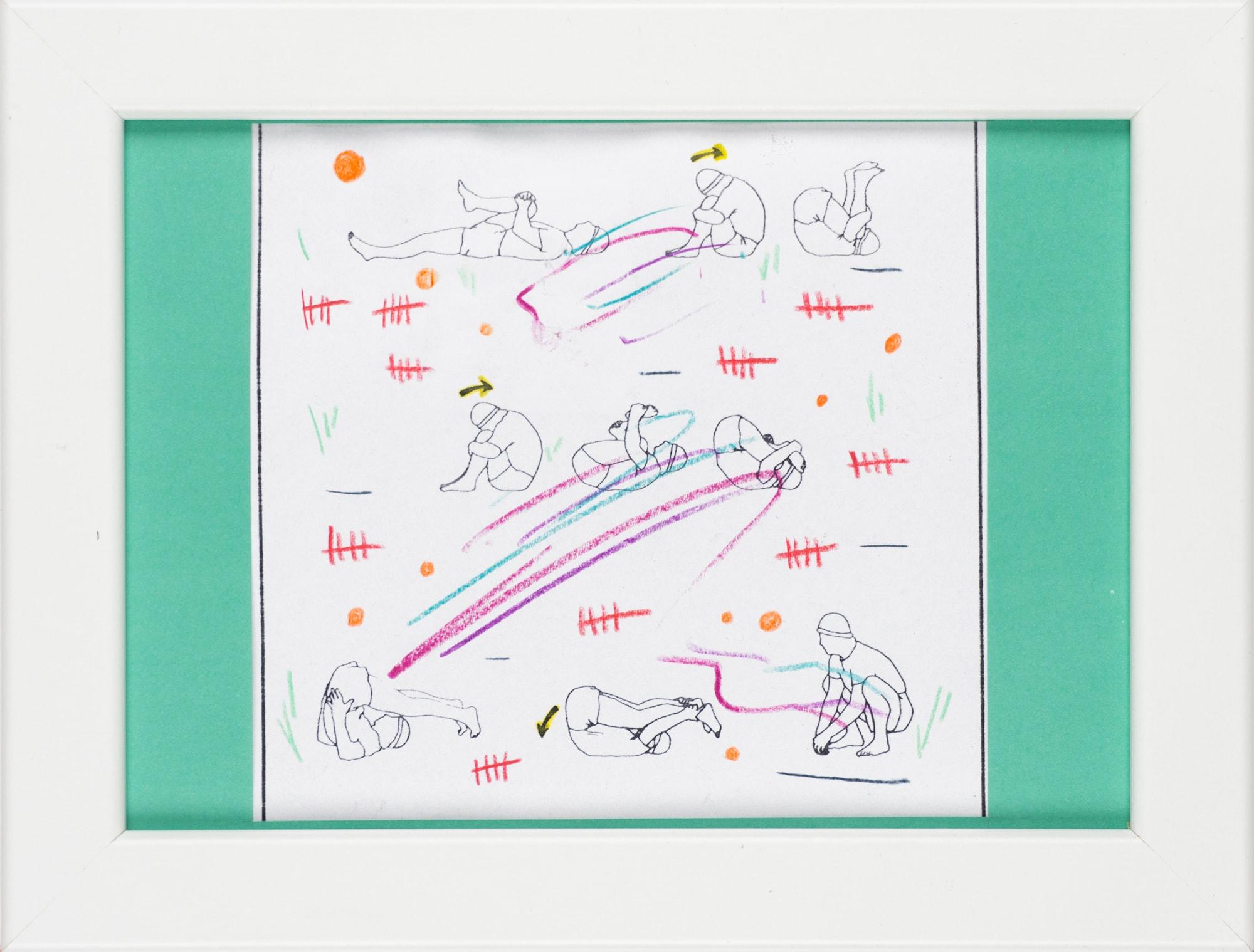 Übermalung und Mischtechnik auf Papier, 12,4x11,8cm, Originalgrafik zum gleichnamigen Booklet, Künstlerin: Franziska King