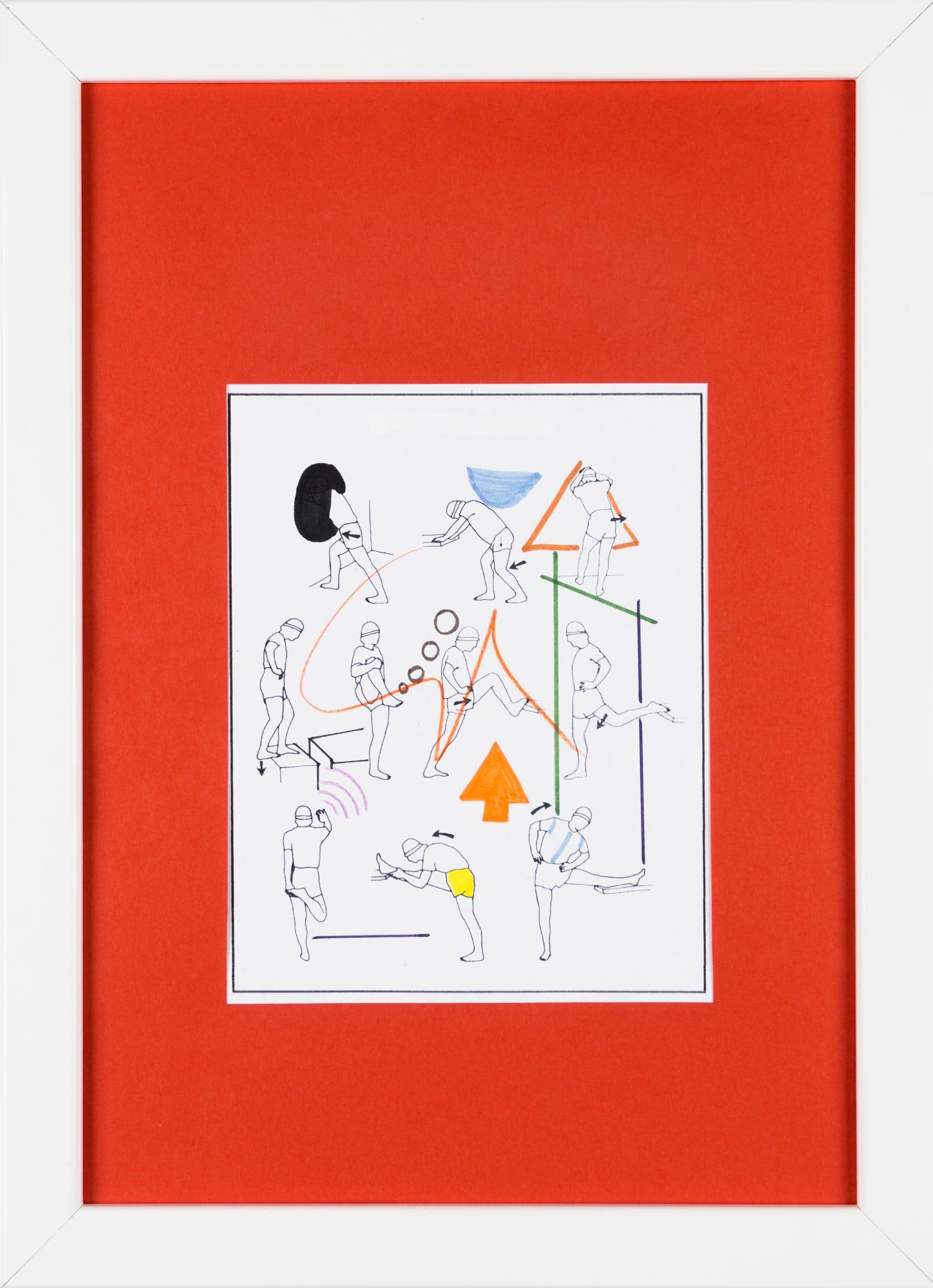 Übermalung und Mischtechnik auf Papier, 12,5x16cm, Originalgrafik zum gleichnamigen Booklet, Künstlerin: Franziska King