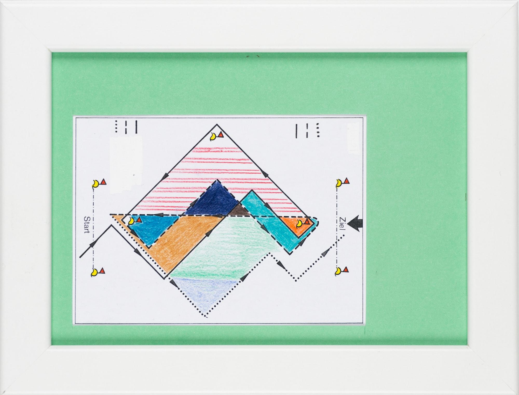 Übermalung und Mischtechnik auf Papier, 12x8,7cm, Originalgrafik zum gleichnamigen Booklet, Künstlerin: Franziska King