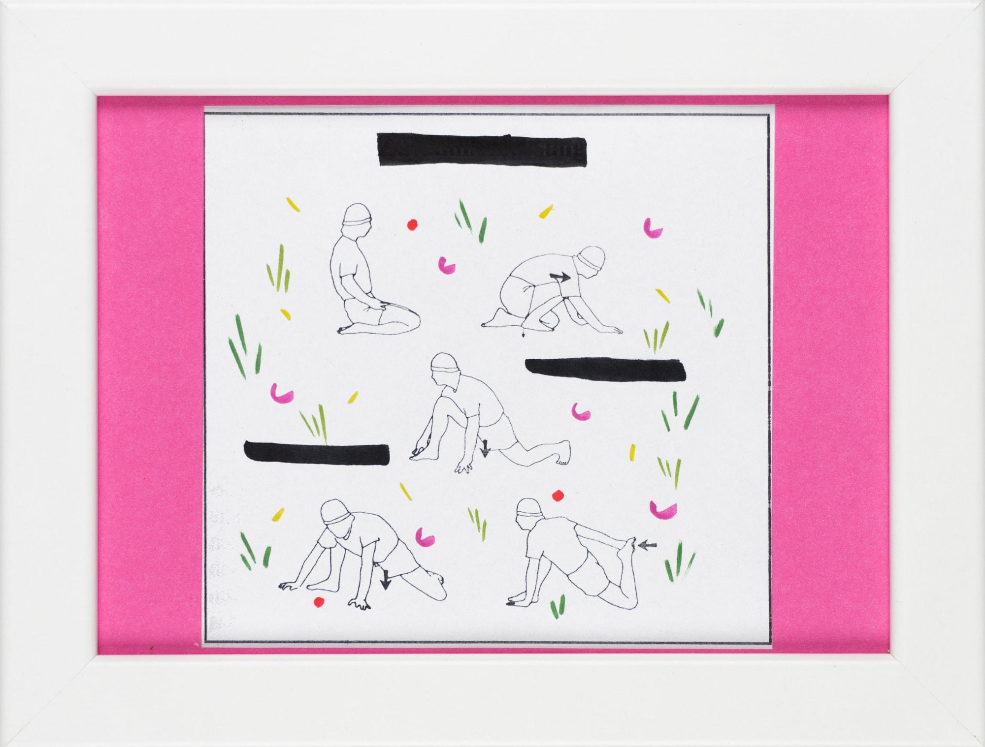 Übermalung und Mischtechnik auf Papier, 12,2x11,6cm, Originalgrafik zum gleichnamigen Booklet, Künstlerin: Franziska King