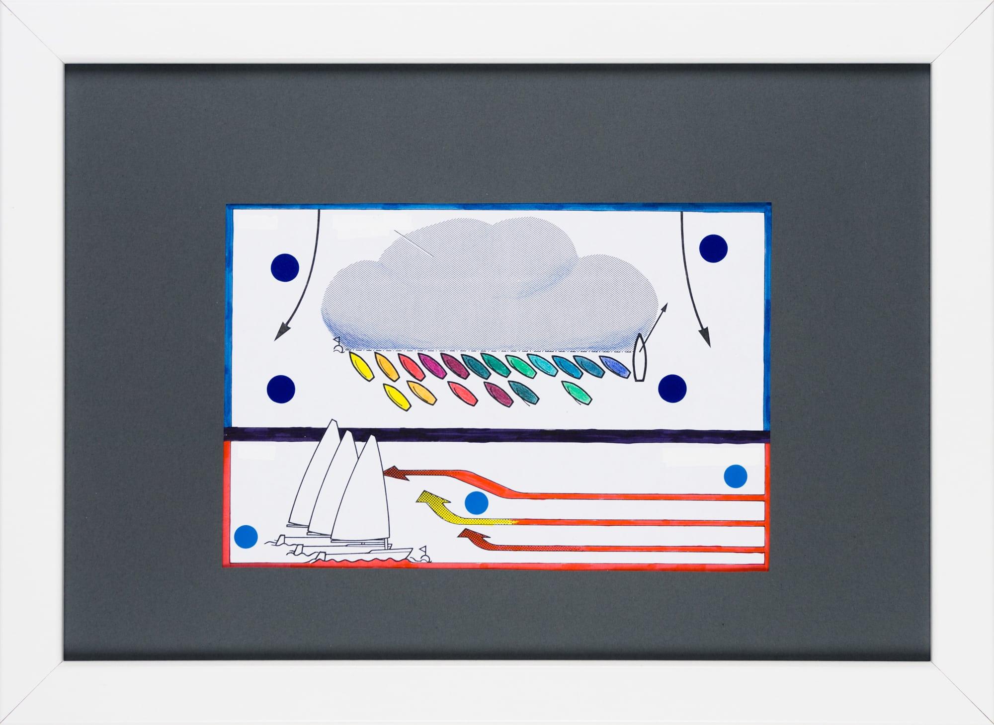 Übermalung und Mischtechnik auf Papier, 18,4x12,3cm, Originalgrafik zum gleichnamigen Booklet, Künstlerin: Franziska King