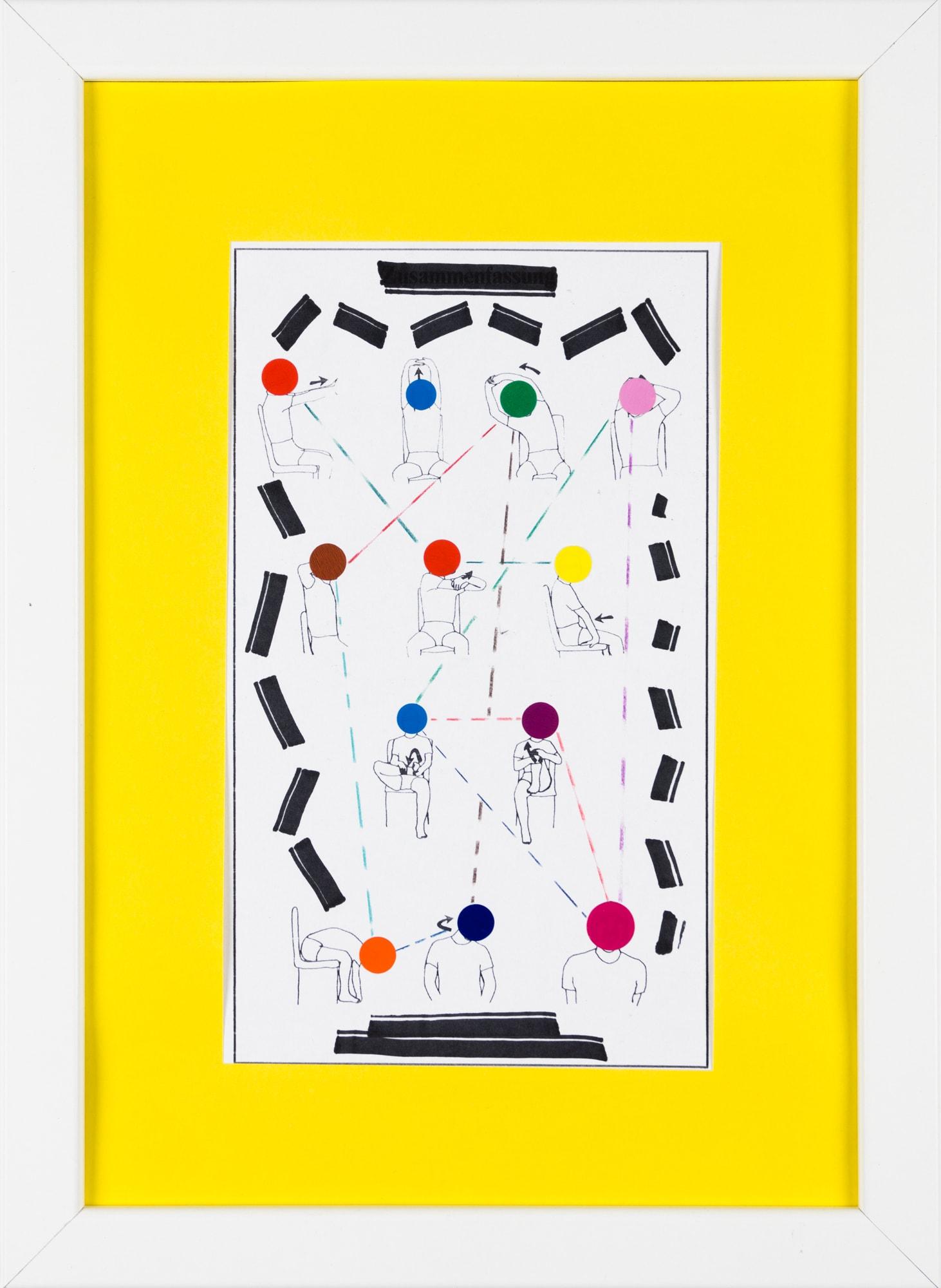 Übermalung und Mischtechnik auf Papier, 12,6x21,3cm, Originalgrafik zum gleichnamigen Booklet, Künstlerin: Franziska King