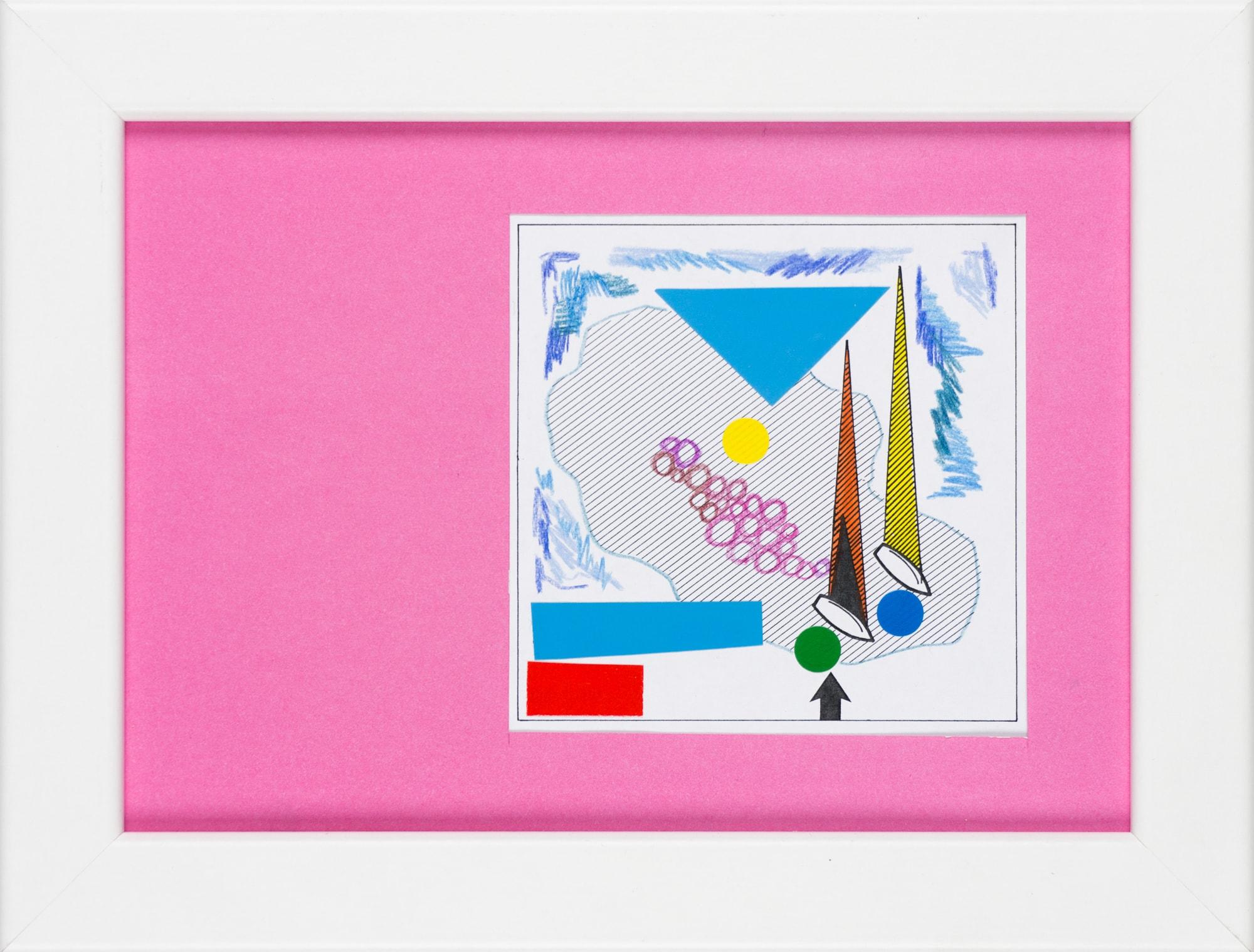 Übermalung und Mischtechnik auf Papier, 8,8x8,8cm, Originalgrafik zum gleichnamigen Booklet, Künstlerin: Franziska King