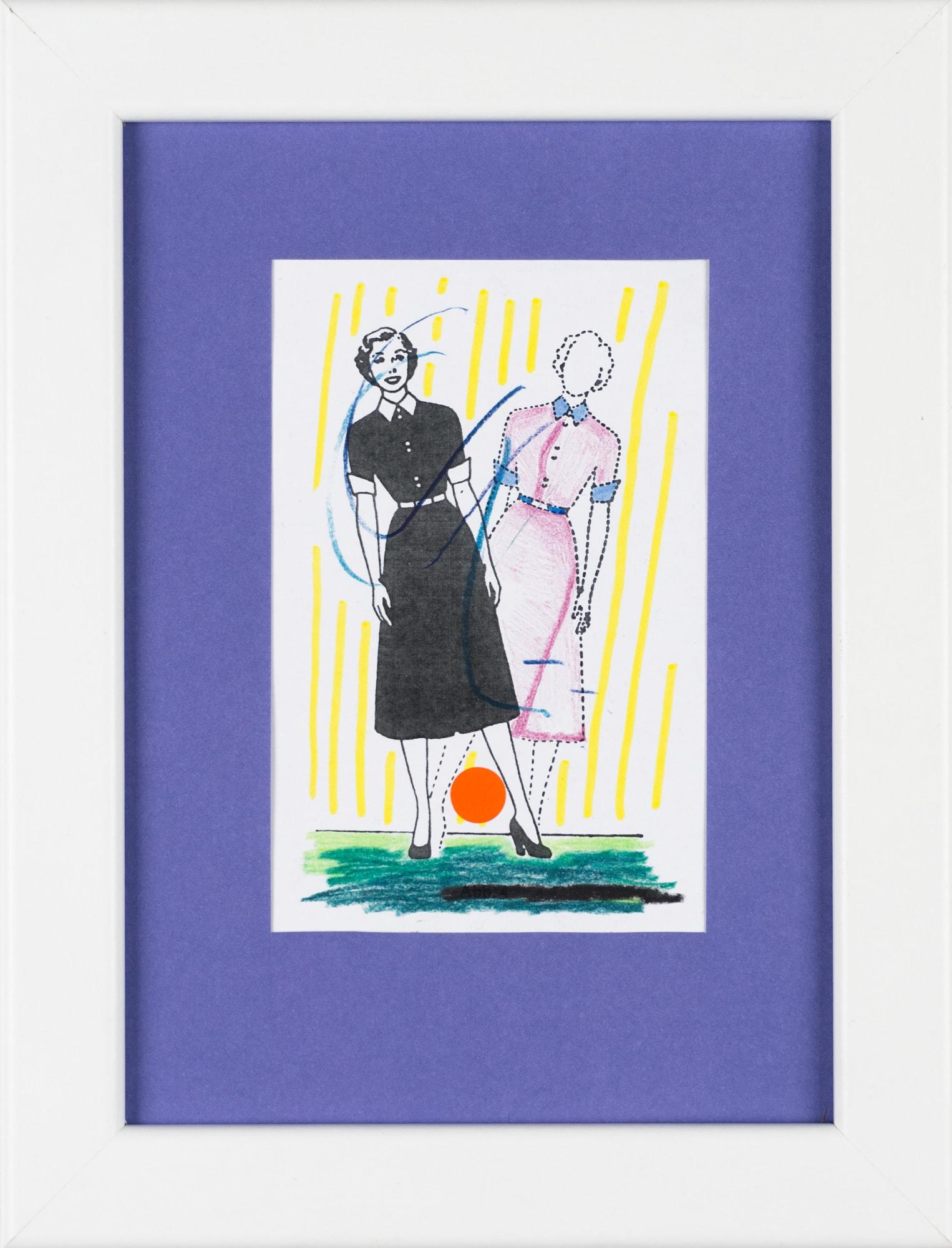 Übermalung und Mischtechnik auf Papier, 7,4x11,5cm, Originalgrafik zum gleichnamigen Booklet, Künstlerin: Franziska King