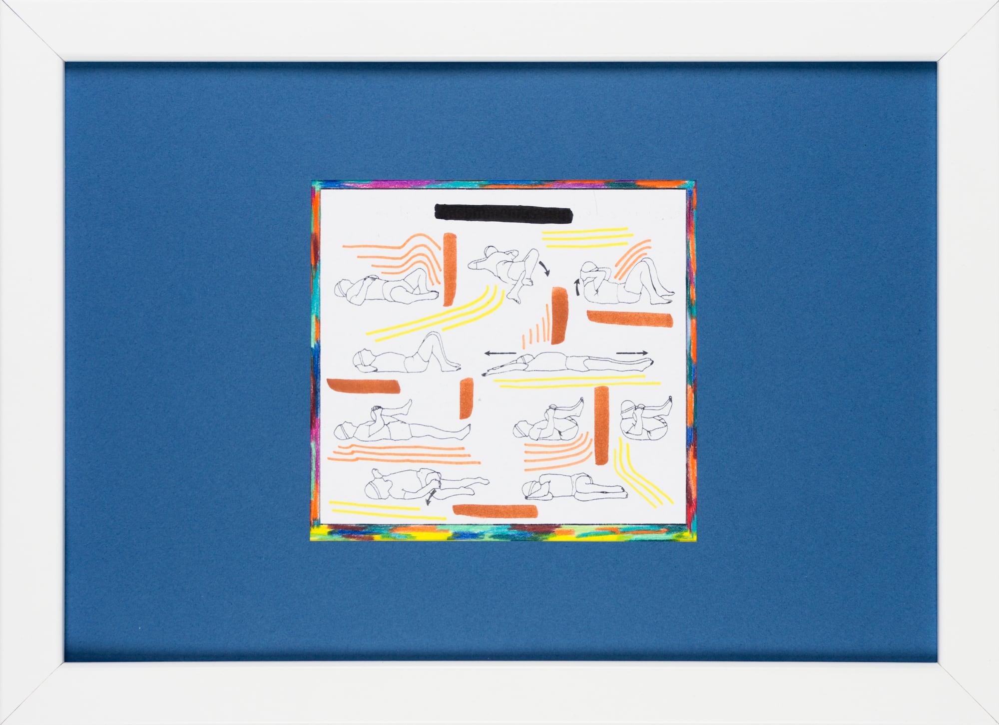 Übermalung und Mischtechnik auf Papier, 12,8x12cm, Originalgrafik zum gleichnamigen Booklet, Künstlerin: Franziska King
