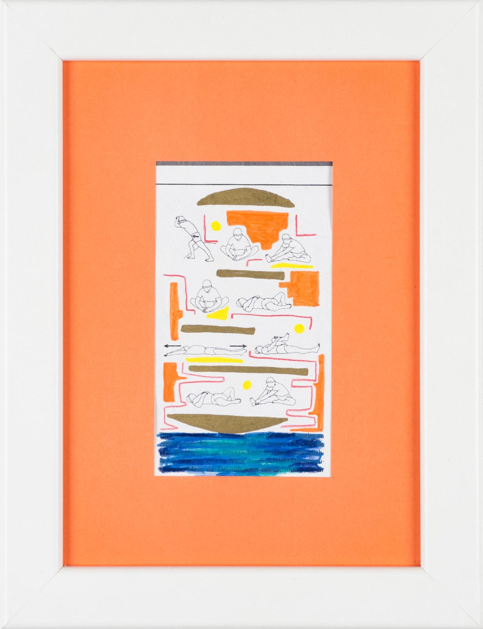 Übermalung und Mischtechnik auf Papier, 6x10,6cm, Originalgrafik zum gleichnamigen Booklet, Künstlerin: Franziska King