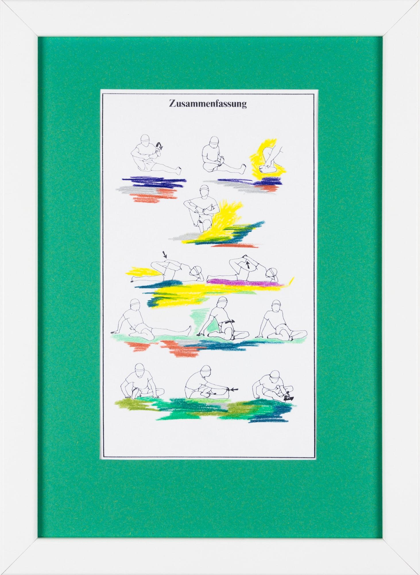 Übermalung und Mischtechnik auf Papier, 12,5x21,5cm, Originalgrafik zum gleichnamigen Booklet, Künstlerin: Franziska King