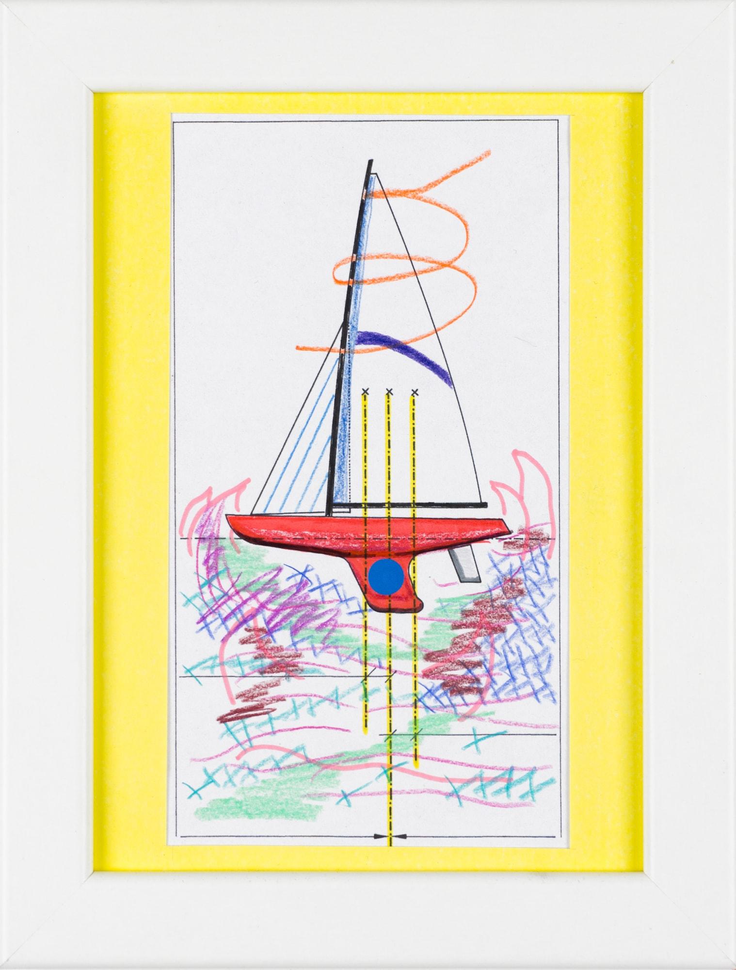 Übermalung und Mischtechnik auf Papier, 8,8x16cm, Originalgrafik zum gleichnamigen Booklet, Künstlerin: Franziska King