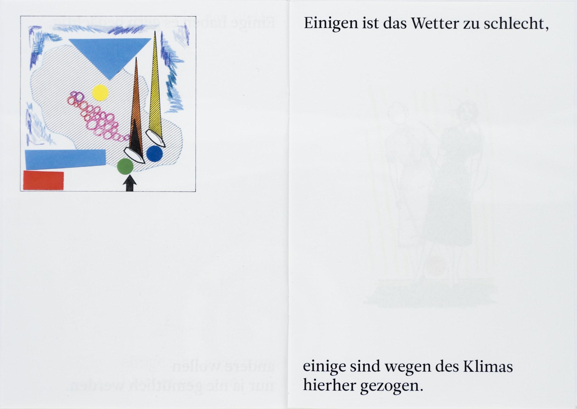 Digitaldruck, 14,3x20,1cm, Seite aus gleichnamigem Buch, Künstlerin: Franziska King