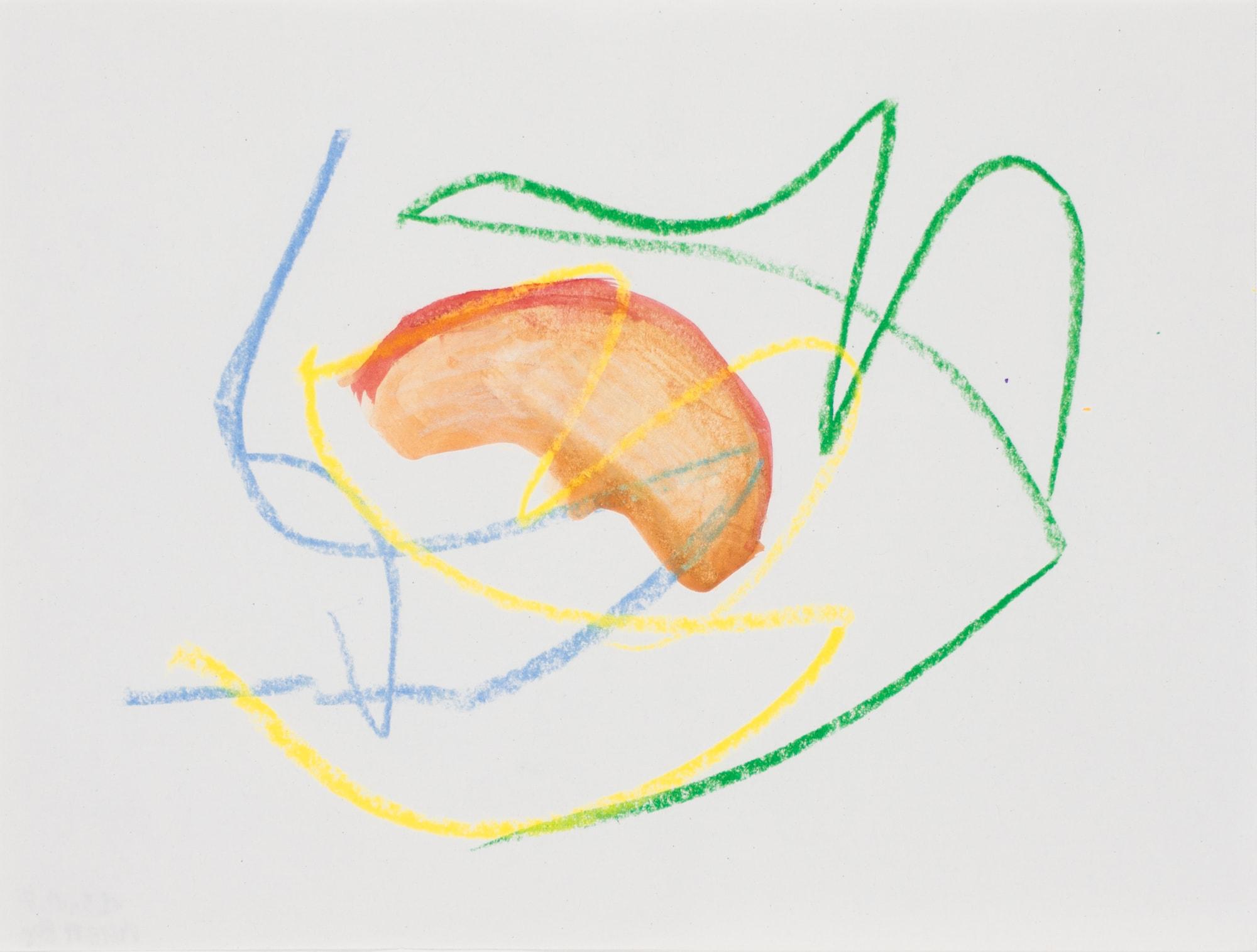 Zeichnung, Gouache, Ölkreide und Tusche auf Papier, 19,5x14,7cm, abstrakt, Künstlerin: Franziska King