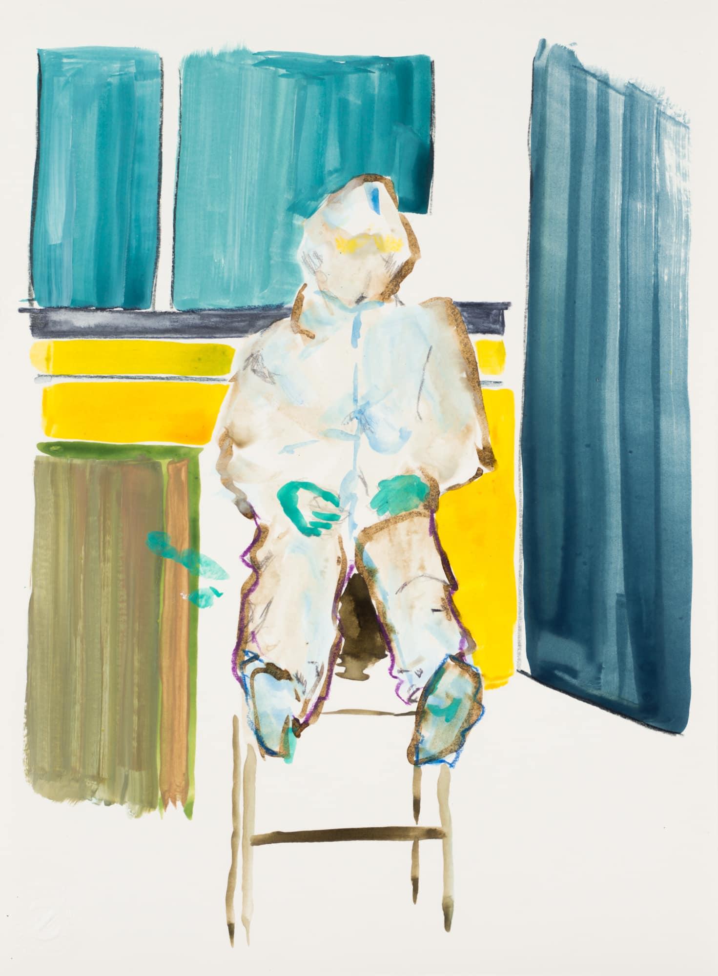 Zeichnung, Gouache und Tusche auf Papier, 22x30cm, Medienbild Corona, Künstlerin: Franziska King