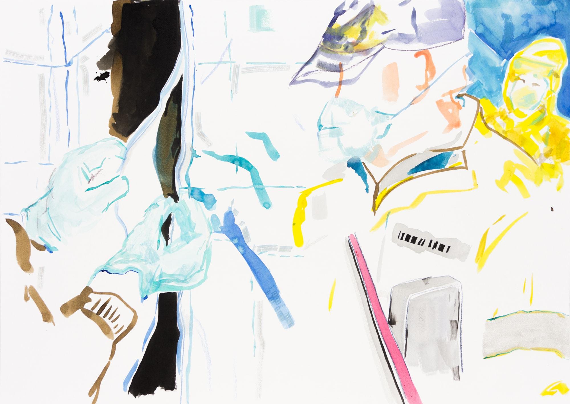 Zeichnung, Tusche auf Papier, 59,4x42cm, Medienbild Corona, Künstlerin: Franziska King