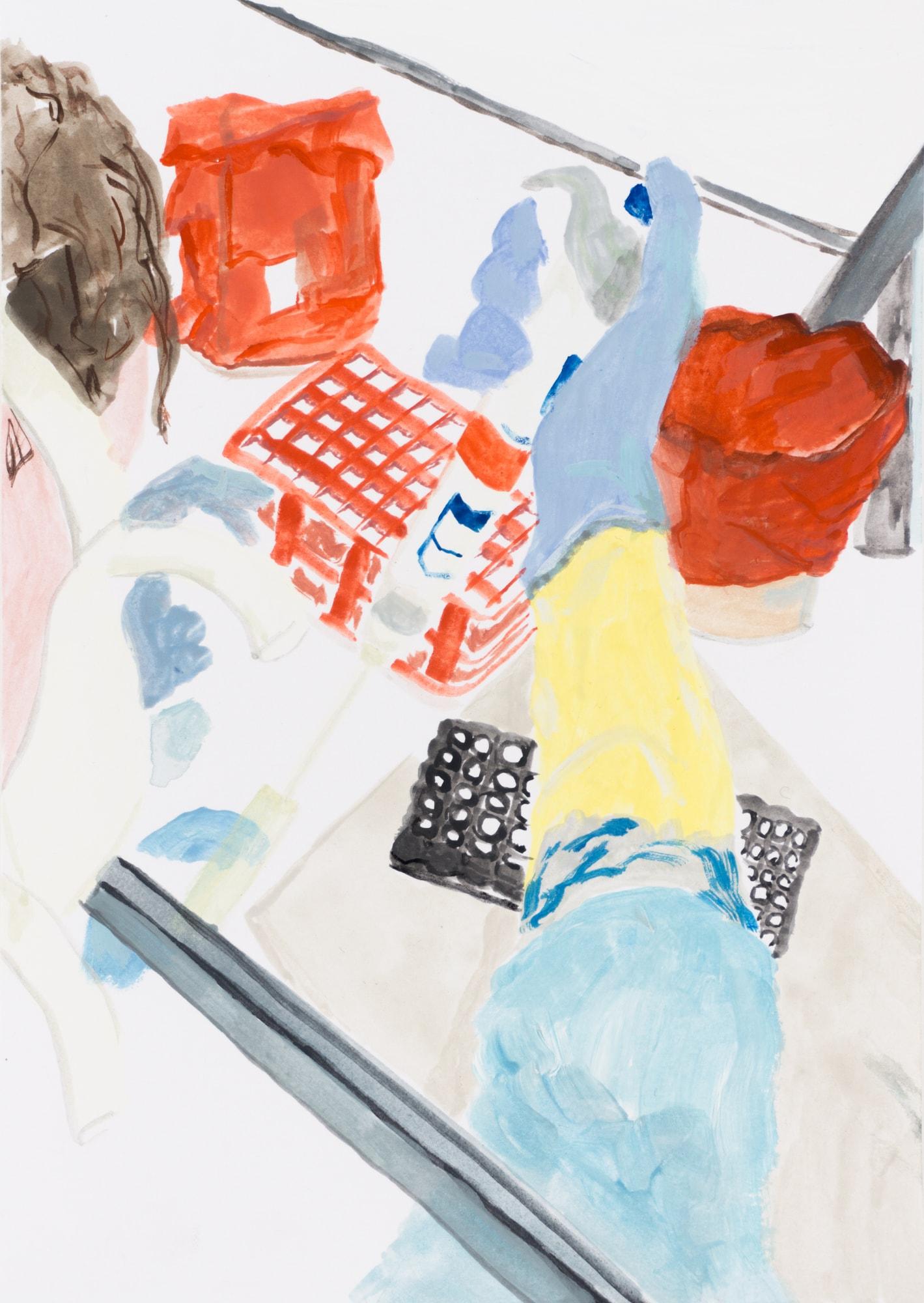 Zeichnung, Gouache auf Papier, 14,7x20,9cm, Medienbild Corona, Künstlerin: Franziska King