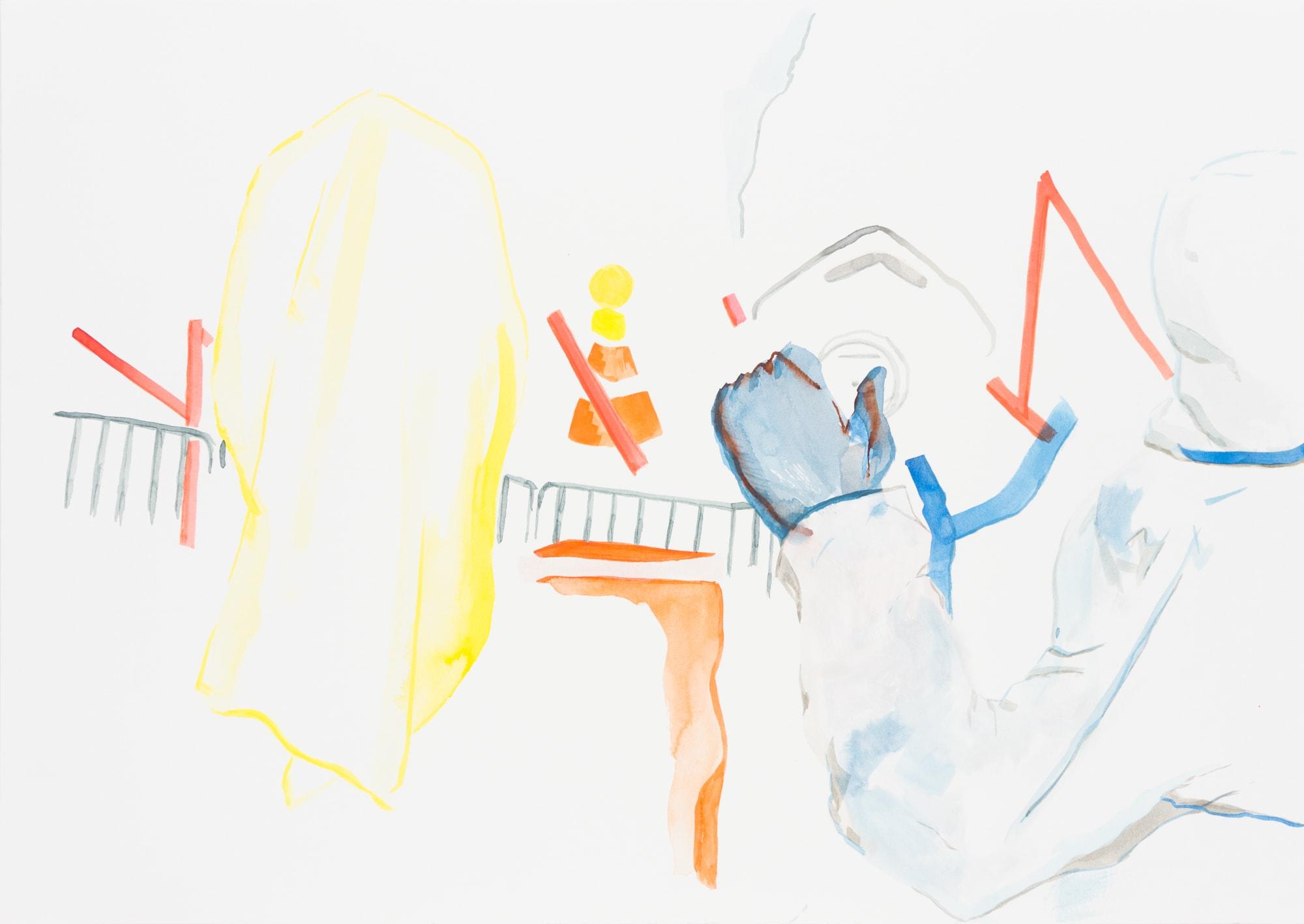 Zeichnung,Tusche auf Papier, 59,4x42cm, Medienbild Corona, Künstlerin: Franziska King