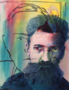 Malerei, Öl auf Leinwand, 40x50cm, überlagerte Portraits, Künstlerin: Franziska King