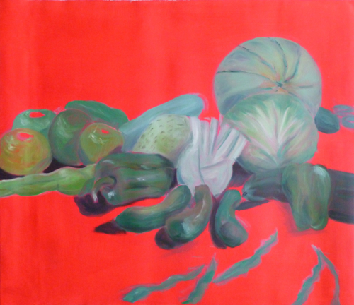 Malerei, Öl auf Leinwand, cm x cm, Stilleben mit Gemüse, artist: Franziska King