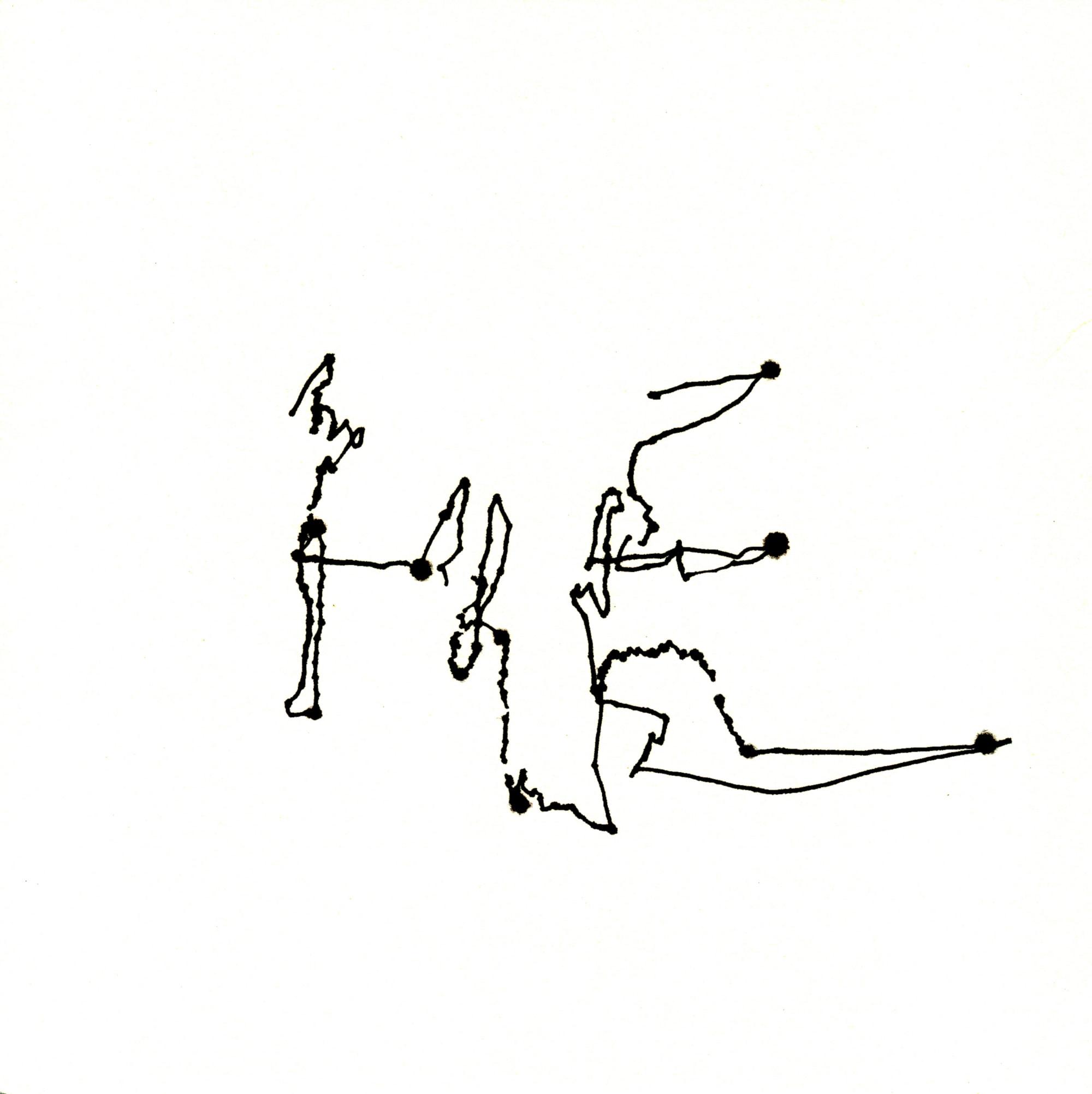 Zeichnung, Tusche auf Papier, 20cm x 20cm, seismographische Aufzeichnungen in öffentlichen Verkehr, artist: Franziska King
