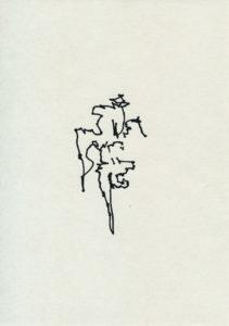 Zeichnung, Tusche auf Papier, 21cm x 30cm, seismographische Aufzeichnungen in öffentlichen Verkehr, artist: Franziska King