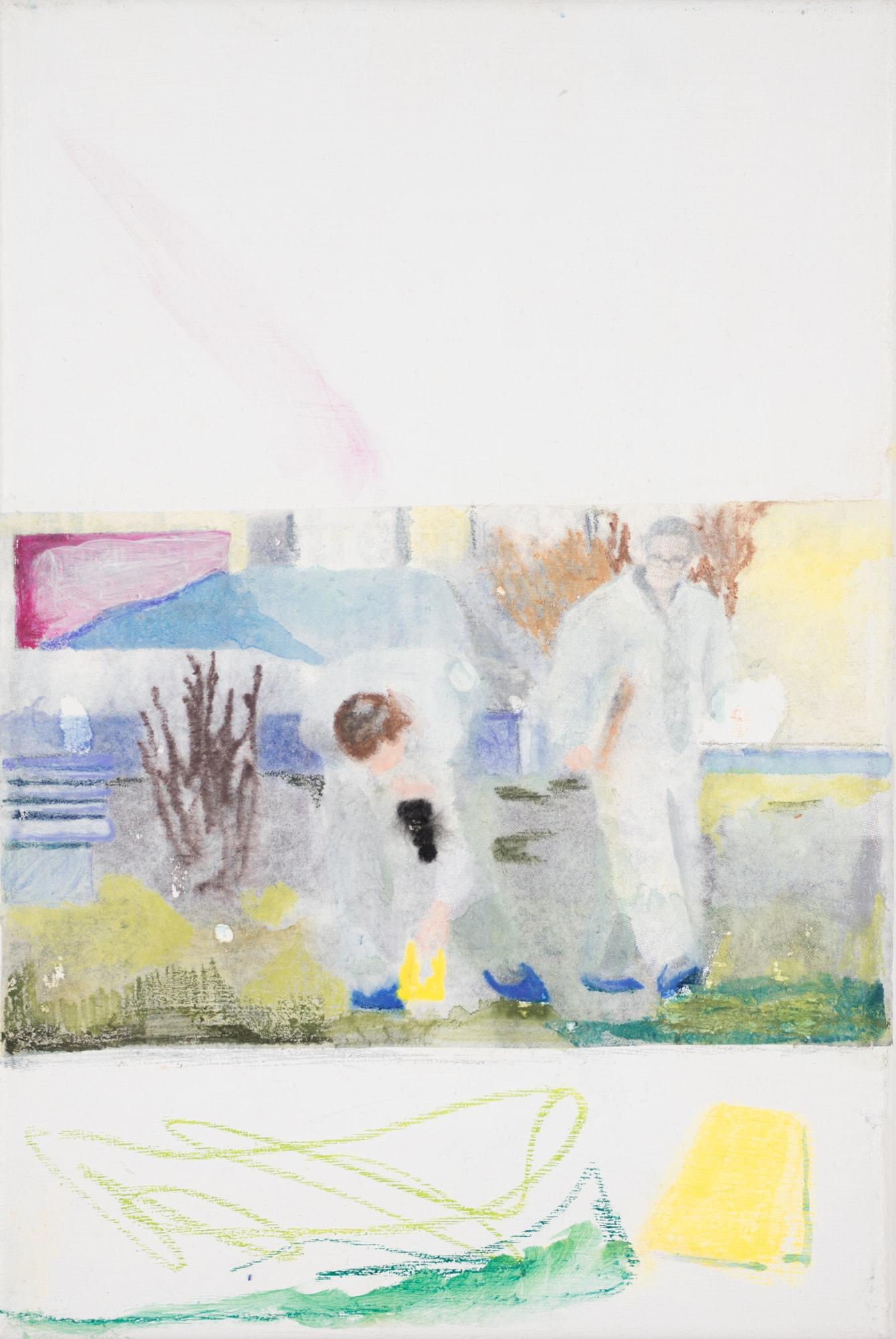 Malerei, Öl auf Leinwand, 20x30cm, Spurensicherung, Künstlerin: Franziska King